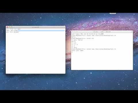 Ruby Tutorial 5 - Creating a Script