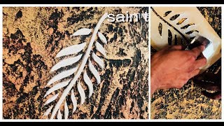 Asian paints leaf texture design making||simpley making laef texture