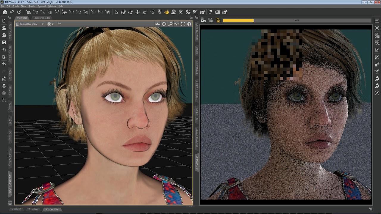 DAZ Studio 3delight rendering speed