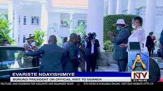 Burundi president on official visit to Uganda