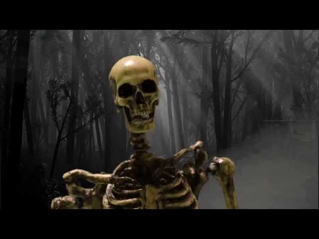 Stop Motion Animated Fattel Skeleton Figure Review & dance.