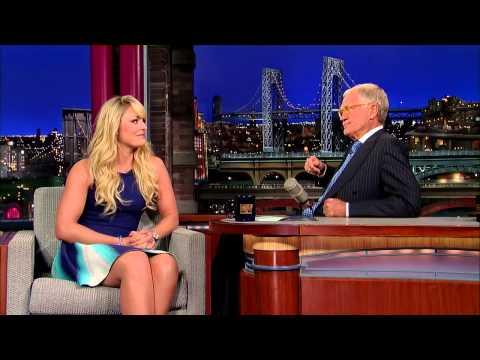 David Letterman   Lindsey Vonn on Tiger Woods