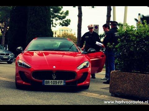 Pulled over by police: Maserati Granturismo MC Stradale & Ferrari 458 Italia!
