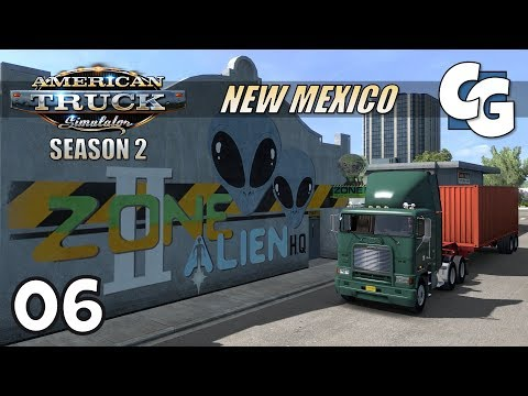 ATS S02E06 - Alien Headquarters - American Truck Simulator New Mexico Let's Play