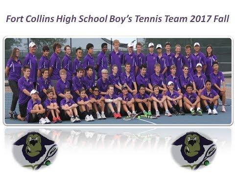 Fort Collins High School Boy's Tennis Team 2017