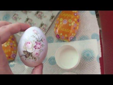Декупаж пасхального яйца (декоративное)