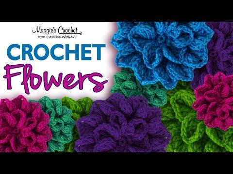 Hydrangea Free Crochet Pattern – Right Handed