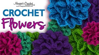 Hydrangea Free Crochet Pattern - Right Handed