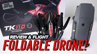 FOLDING DRONE with WIFI - SKYTECH TK110 Review & Flight