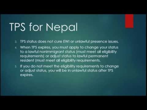TPS for Nepal