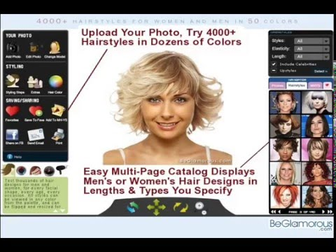 Try On Virtual Hairstyles  Upload Your Photo  Change Hair Color  Online Generator  YouTube