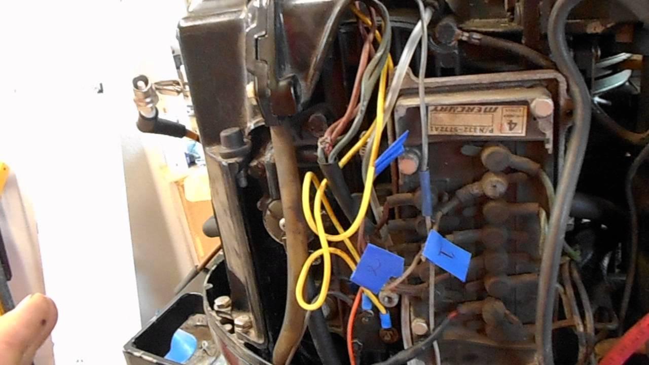1978 mercury 800 80 hp outboard motor repair  YouTube