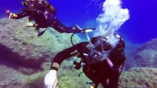 Dykning Kreta, Chora Sfakion Vritomartis, Peppran & Anneli. Notos Mare. scuba