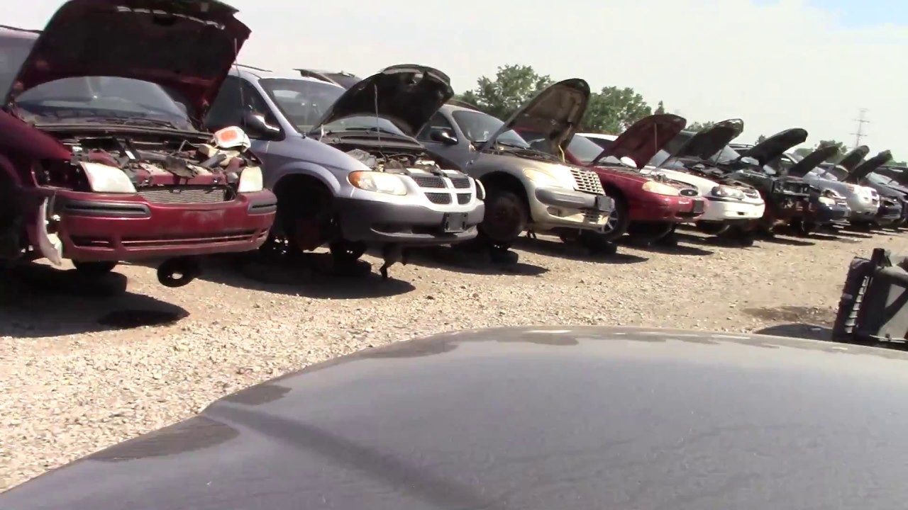 Old American Cars in the Junk Yard - YouTube