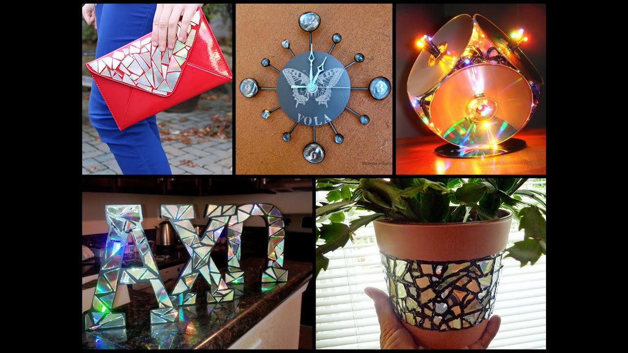 Best diy recycling cds ideas recycled home decor youtube for Recycled decoration