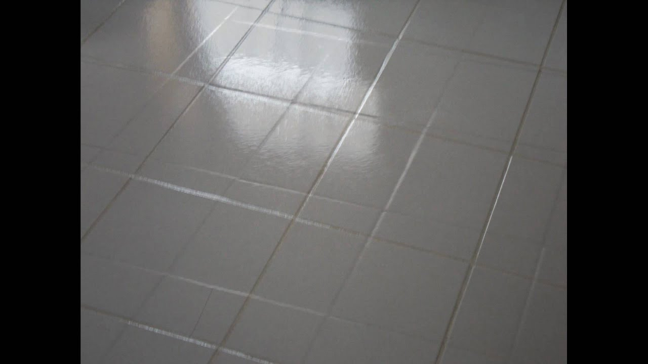 Kitchen Floor Grout Cleaner How To Clean White Tile And Grout Youtube