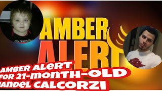 AMBER Alert issued for Jandel Calcorzi 21 months old