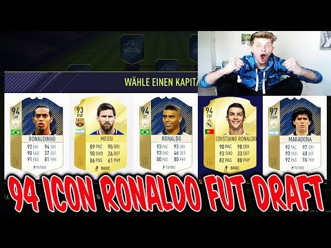 FIFA 18 - BEST 94 ICON RONALDO FUT DRAFT! 🔥⚽⛔️ - FifaGaming Ultimate Team Deutsch