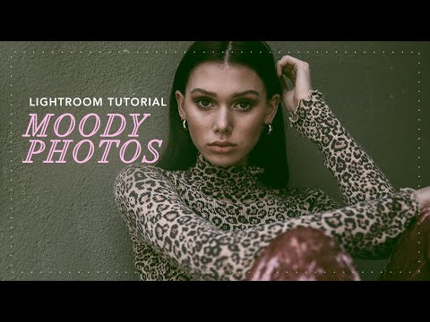 moody & dark photography using Lightroom | tutorial thumbnail