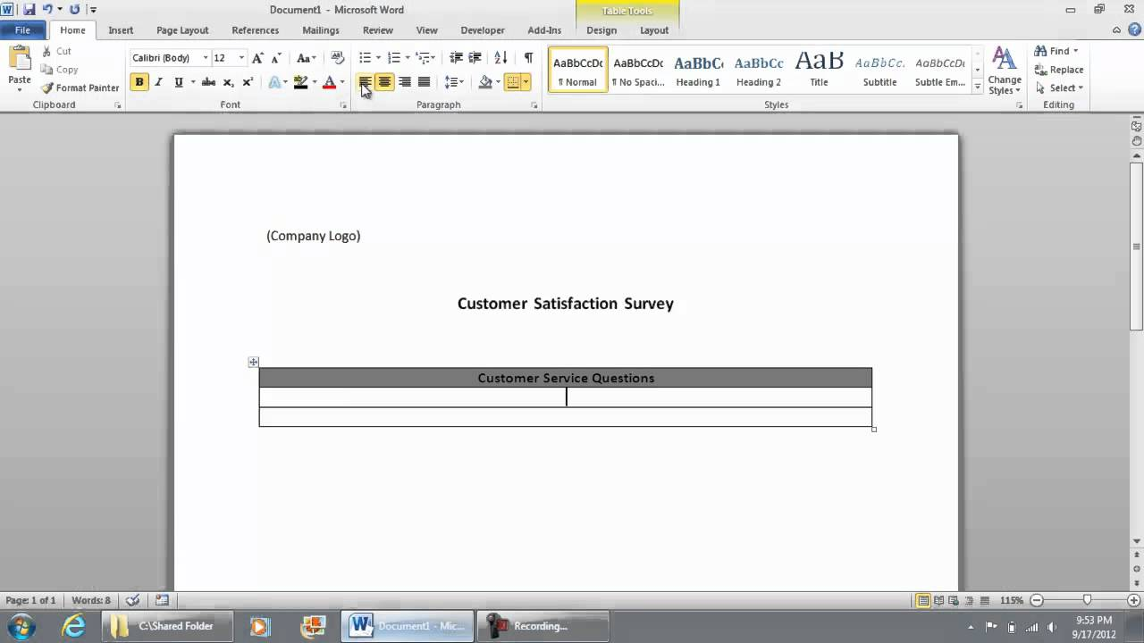 microsoft word customer service