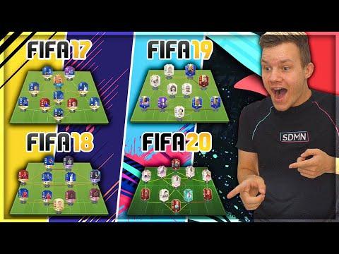 JEG VISER ALLE MINE HOLD FRA HVERT FIFA FRA FIFA 17-20!
