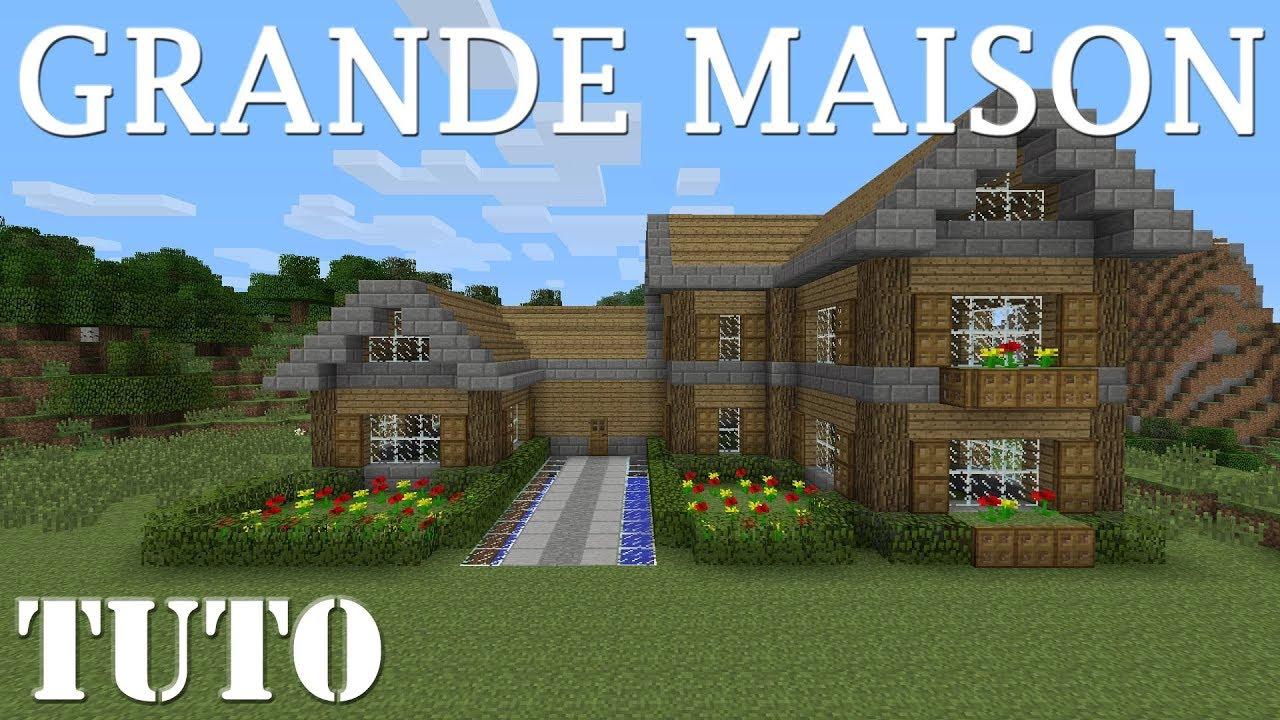 Comment Faire Une Belle Grande Maison Minecraft Ps4 Youtube