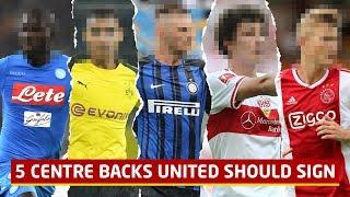 5 Centre Backs Manchester United Should Sign! Transfer Shortlist   Man Utd News