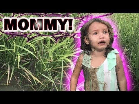 BABY FELL INTO MUDDY RICE FIELD!!!