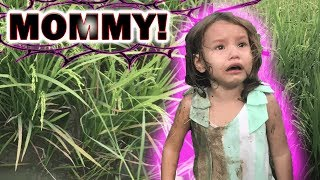 BABY FELL INTO RICE FIELD!!!