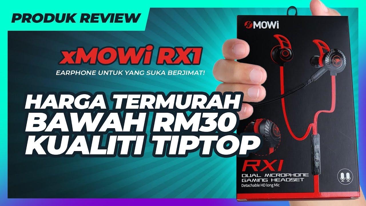 Download Earphone Gaming Harga Pasar Malam tapi Tiptop! Xmowi RX1 Review & Test Mic
