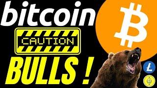 CAUTION BITCOIN BULLS, LITECOIN ETH and DOW JONES ALSO Crypto TA prediction, analysis, news, trading