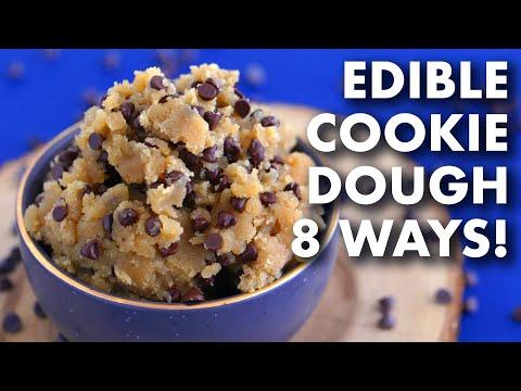 EDIBLE COOKIE DOUGH 8 Ways | Vegan & Paleo
