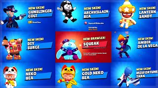 All New Brawlers + Skins Unlocking Animations in Brawl Stars