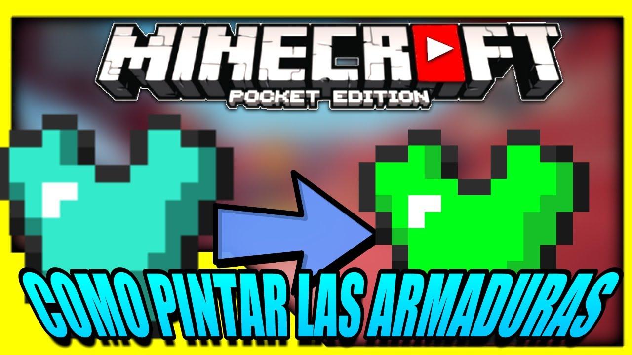 COMO PINTAR LAS ARMADURAS EN MINECRAFT PE 1.2 | TRUCOS PARA ...