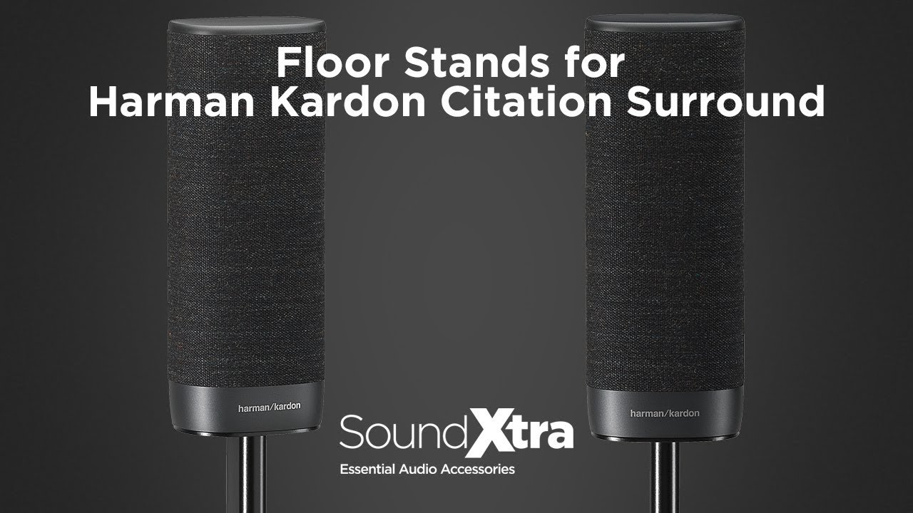 Pair Black SoundXtra Floor Stands for Harman Kardon Citation Surround