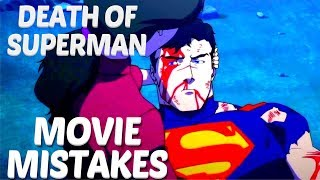 Biggest Death of Superman Movie Mistakes You Missed   Death of Superman Goofs & Fails