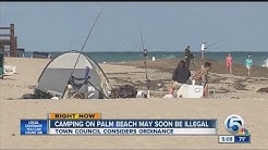 Camping on Palm Beach may soon be illegal