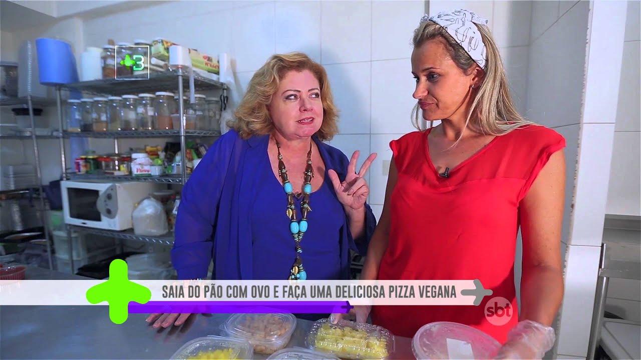 Pizza vegan com Mandiorela da Vegan-se! SBT +Brasília Viver em Brasília