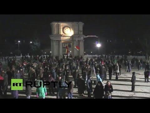 LIVE: Anti-government protest continue in Chisinau