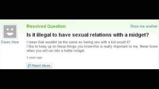 Yahoo answers: midget sex