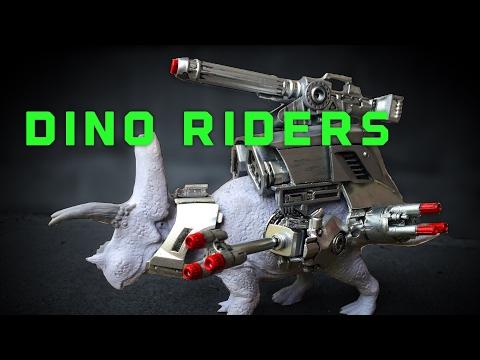 DIY Dino Riders Torosaurus Sculpting!