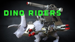 DIY Dino Riders Torosaurus Sculpting!