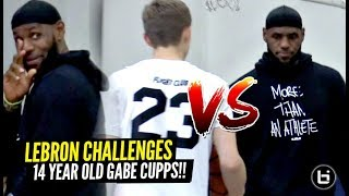 LeBron James CHALLENGED By 14 Y/O Gabe Cupps In The  Middle of Bronny's Game!!