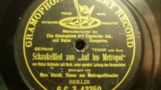 Max Steidl - Auf ins Metropol - Schreibender Engel schwarz - Grammophon 1905