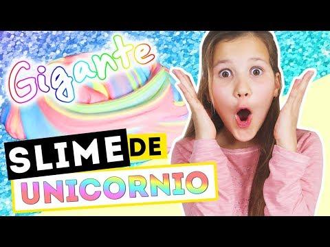 SLIME UNICORNIO GIGANTE | Como hacer Slime Arcoiris | Daniela Golubeva