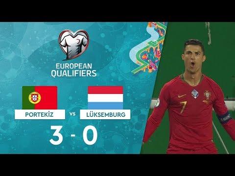 Portekiz 3-0 Lüksemburg |  EURO 2020 Elemeleri Maç Özeti - B Grubu