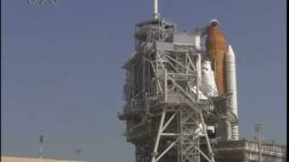 STS 127 Rotating Service Structure Roll Back Time Lapse