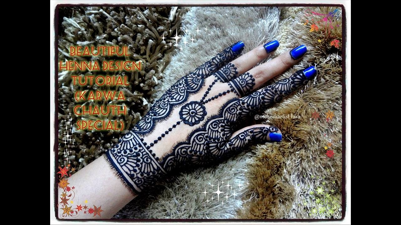 how to apply easy simple jewellery style mehndi designs