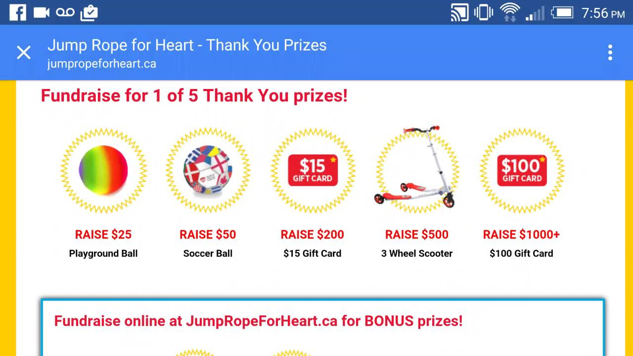 Jump rope for the heart prizes