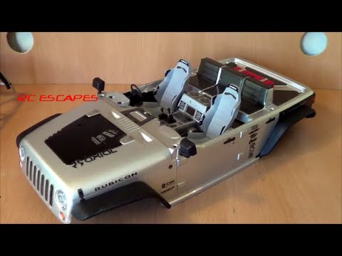 Axial Scx10 2012 Jeep Wrangler With Wraith Interior Youtube